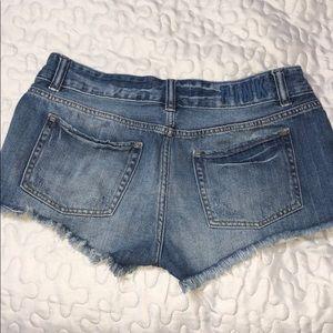 PINK Victoria's Secret Shorts - PINK Distressed Jean Shorts